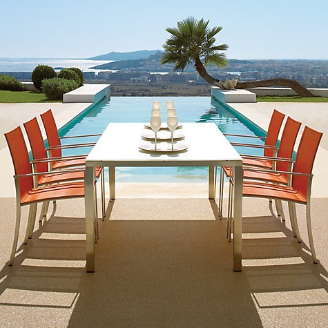 Gloster Asta Outdoor Dining Chairs and Ottomans Online at johnlewis.com