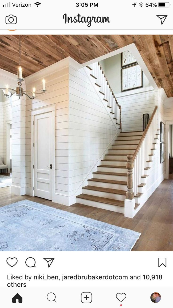 Look On Stair Landing (wainscoting With Plaster Above)
