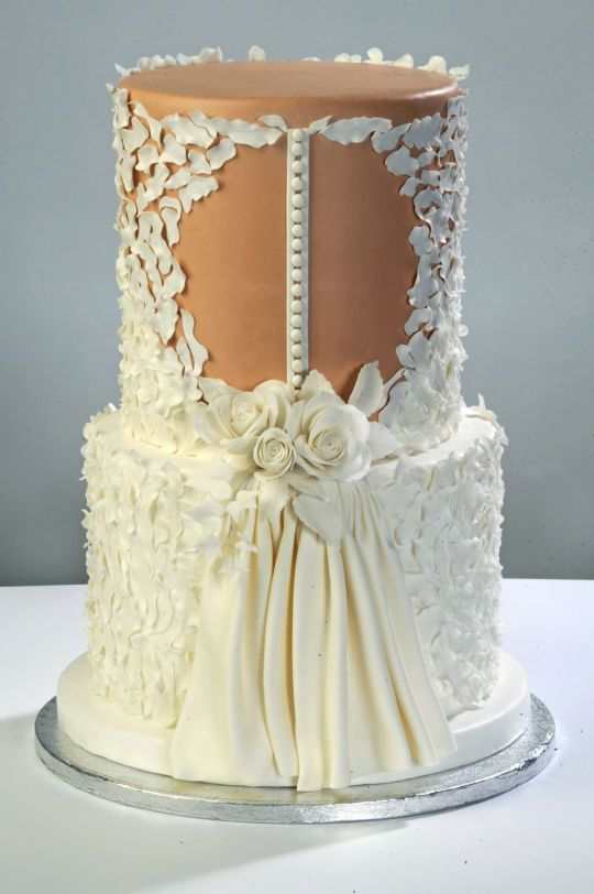 cute wedding cakes wedding dress cake by d adamo cinzia cakesdecor 13279