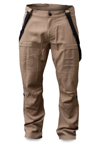 I purchased these at the end of the hunting season but as it turns out I've been wearing them (with a base layer of course) during our nice cold Canadian January.  100% Merino wool, rip stop, lined, articulated knees, draw string legs and super comfortable.