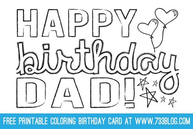 Dad Grandpa Printable Coloring Birthday Cards Inspiration Made Simple Coloring Birthday Cards Dad Birthday Card Birthday Card Printable