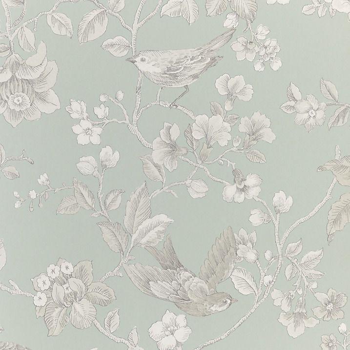 Buy John Lewis Nightingales Wallpaper, Eau de Nil Online at johnlewis.com
