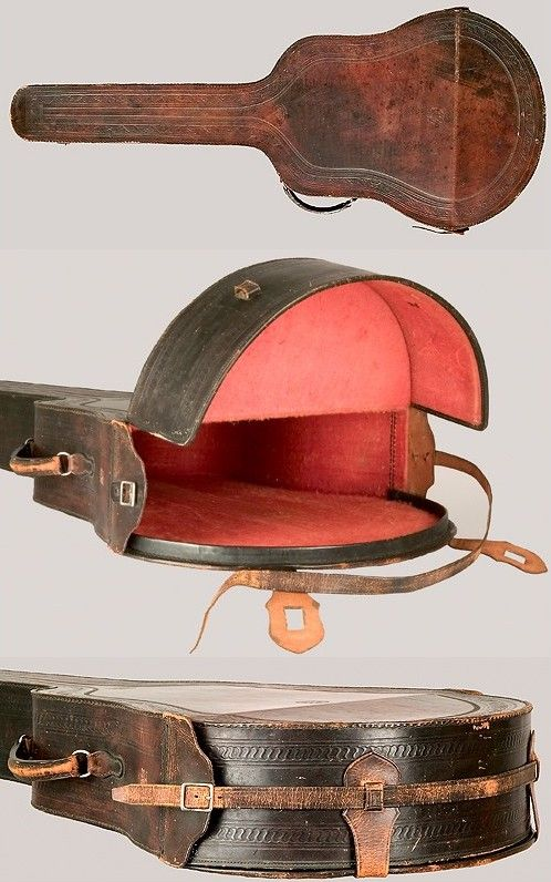 leather guitar case - Google Search