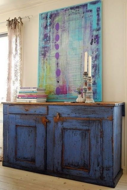 Napoleonic Blue Chalk Paint by Annie Sloan. Love it!