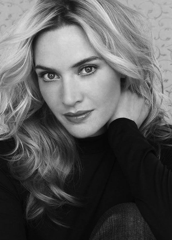 ACTORS IN BLACK AND WHITE.  Kate Winslet