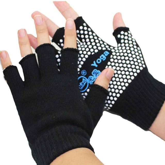 "Brand Name: AONIJIE Material: Polyester Size: 14-16cm/5.5*6.3"" Function: Non Slip Style: yoga, gym gloves Item Type: Gloves & Mittens"