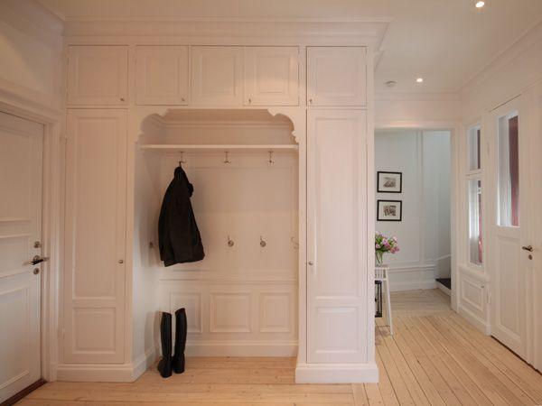 Bildresultat för platsbyggd garderob hall