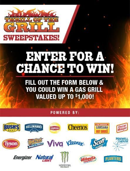 Thrill Of The Grill Sweepstakes in 2019 | Sweepstakes