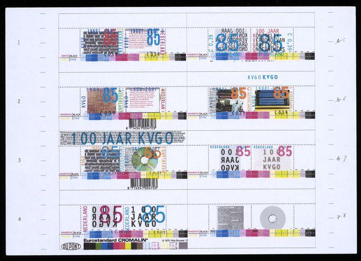Karel Martens – Alternatief ontwerp voor postzegels Nederland 2001 Koninklijk Verbond van Grafische Ondernemingen