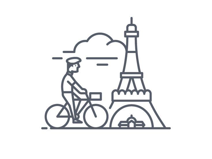 La Tour Eiffel by Scott Lewis #Design Popular #Dribbble #shots