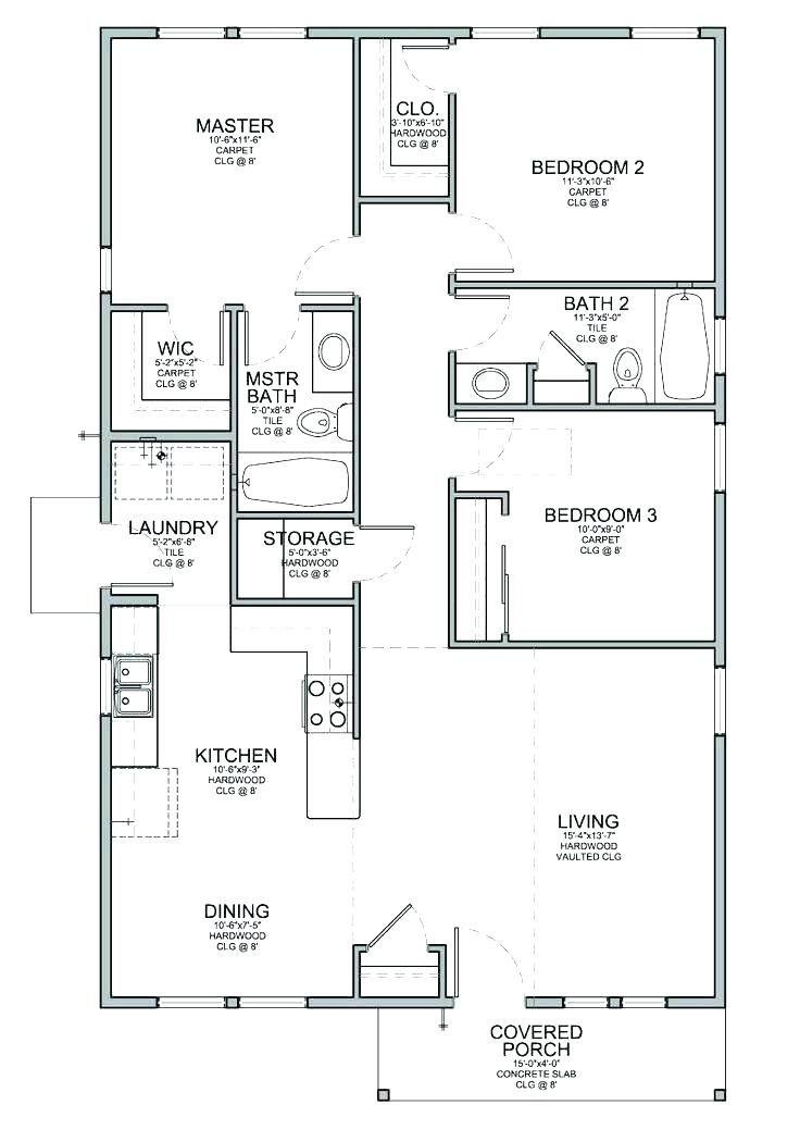Simple House Floor Plans Simple 3 Bedroom House Floor Plans Tiny House Floor Plans House Floor Plans Bungalow House Design Simple house plan layout