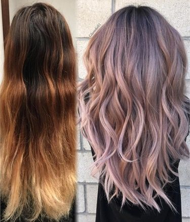 TRANSFORMATION: Low-Maintenance Dusty Pink Balayage - Hair Color - Modern Salon
