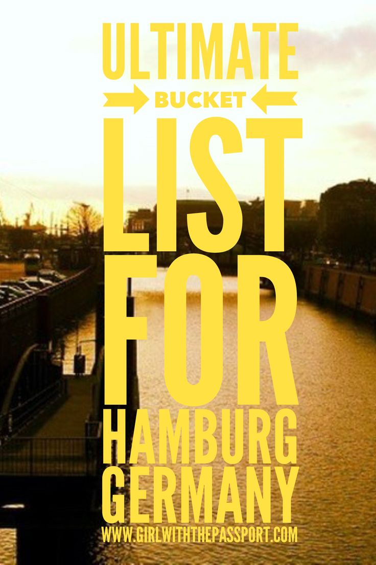All the things you must see and do when you visit Hamburg Germany.