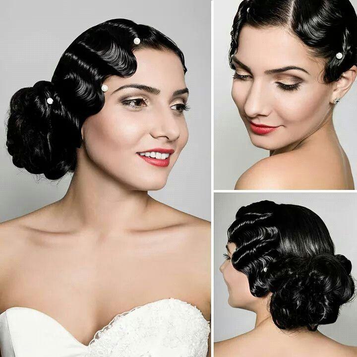 #Vintage #hairstyle #bride