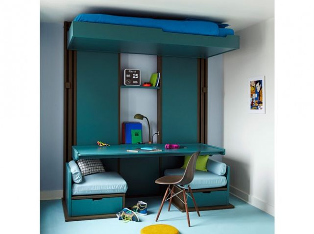 1000 id es sur le th me bureau gain de place sur pinterest gain de place u - Bureau enfant gain de place ...