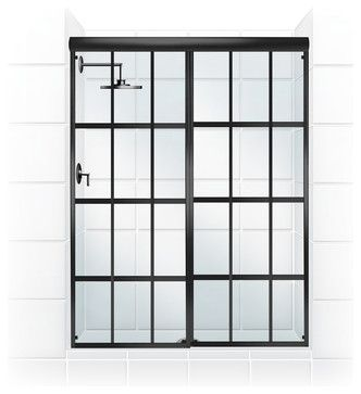 GRIDSCAPE™ Series Sliding Shower Door Conversion Kit transitional-shower-doors