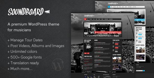 Soundboard - a Premium Music WordPress Theme  - ThemeForest Item for Sale