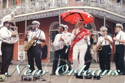 UNITED STATES (Louisiana) - Second line jazz band in New Orleans