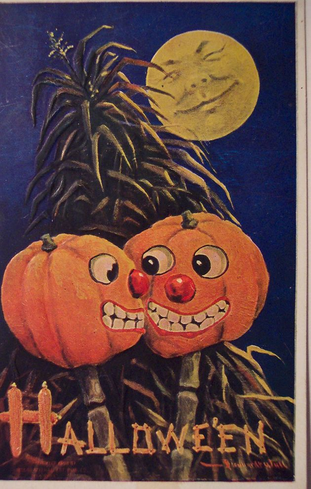 Friends used to send these cards to each other on Halloween. Sort of like a text, but with fewer smiley faces. These are the most subversive...