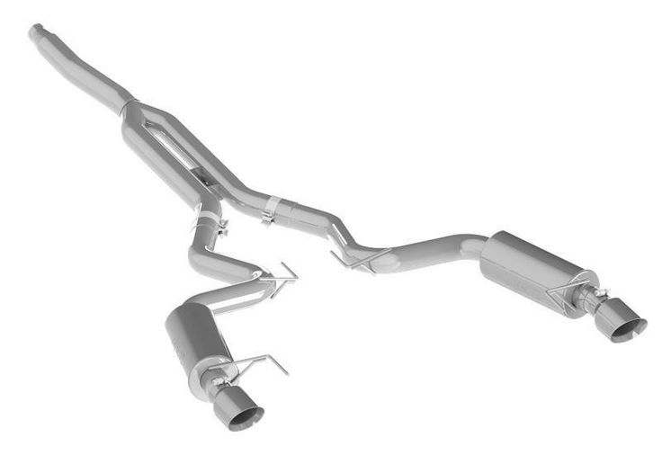MBRP 2015 Ford Mustang EcoBoost 2.3L Aluminum 3in Cat-Back Exhaust System with Dual Split Rear Exit (Street Version)