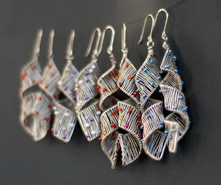 Gorgeous wire wrapped earrings by sabina gontarewicz