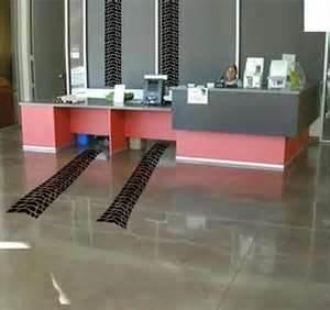 tire tracks on floor