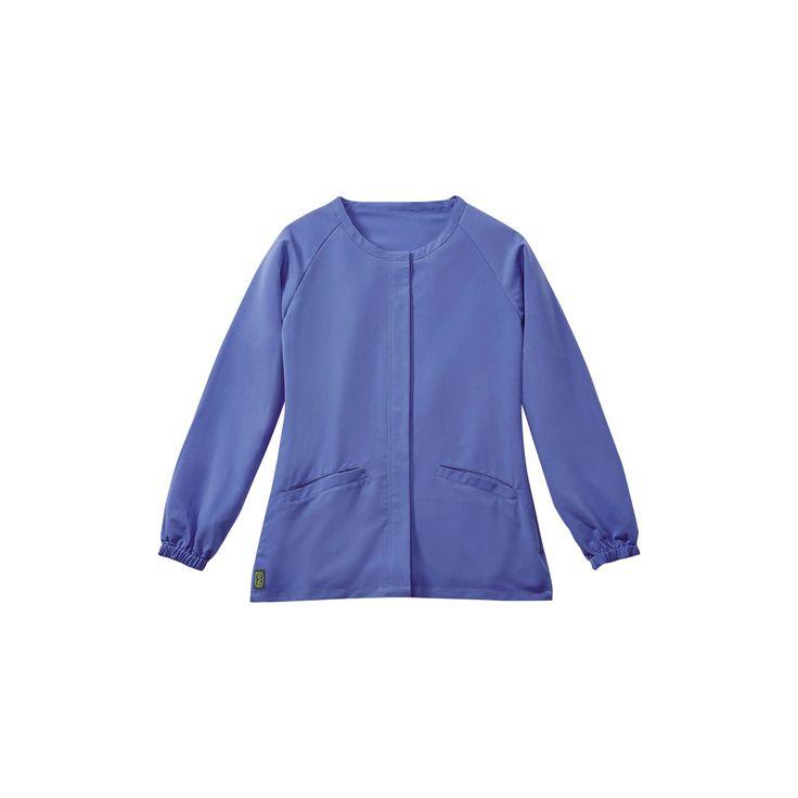 Addison Ave Scrub Jacket Ceil Blue 2xl