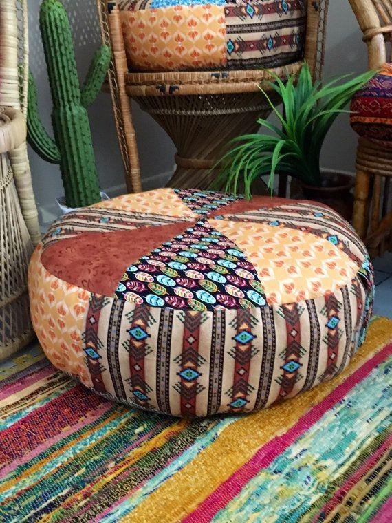 Sale Unfilled 20 Inch Diameter Free Spirit Floor Cushion Cover Made In Australia Boho Pouf Pouffe Floor Seating Meditation Cushion Meditation Room Meditation