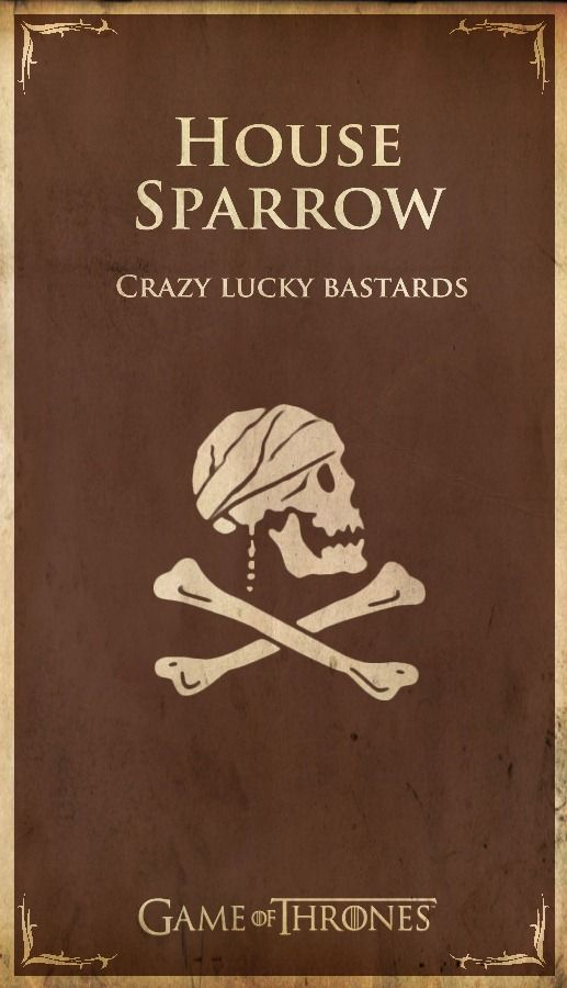 """Imgur - ASOIAF Houses - Sparrow 