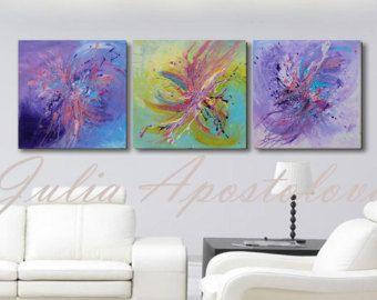 Two Art Prints Huge Wall Art Watercolor Print by JuliaApostolova