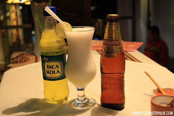 Peru's Most Popular Drinks - Inca Cola, Pisco Sour, Cusquena www.escapetravele...