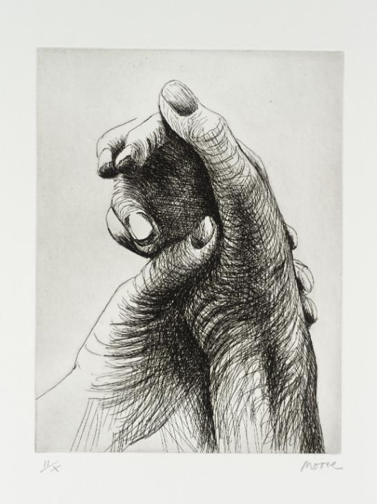 Henry Moore OM, CH 'The Artist's Hand IV', 1979 © The Henry Moore Foundation. All Rights Reserved