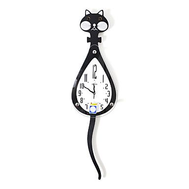 """35.5""""H Contemporary Style Mute Wall Clock with pendulum – USD $ 79.99"""
