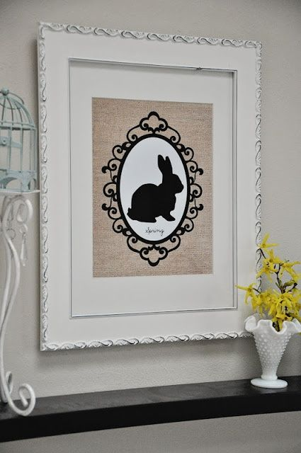 Rabbit silhouette Free Easter Printables — A Cultivated Nest