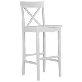 Buy Pair Of Wooden Cross Back Bar Stools White At Argos
