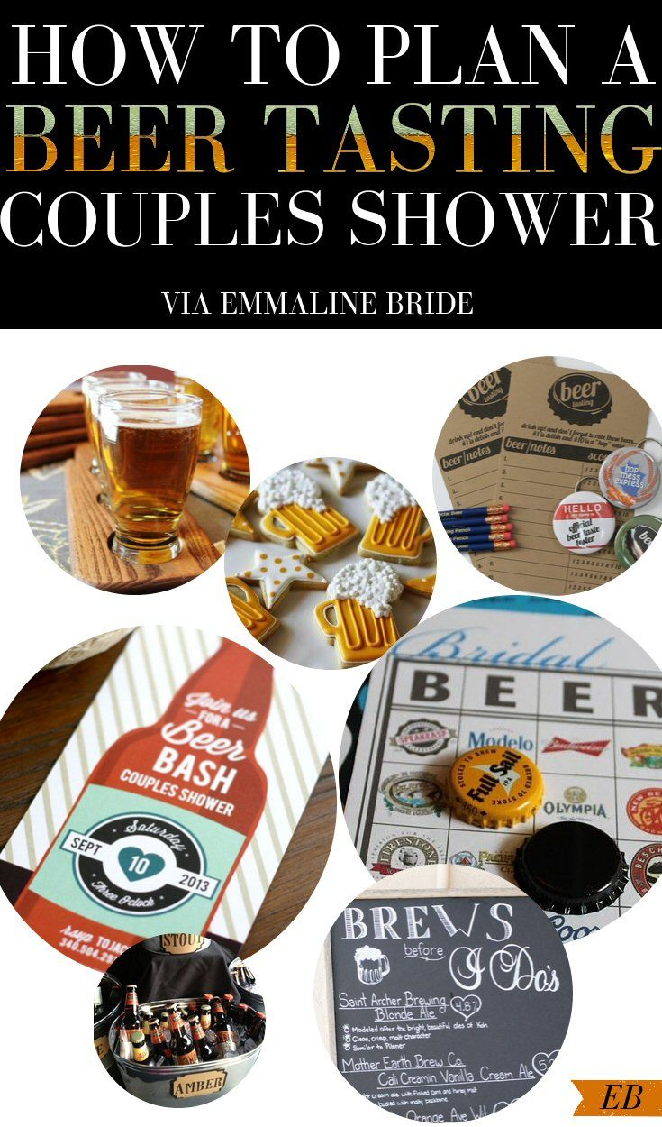 Beer Tasting Couples Shower Ideas + Inspiration | http://emmalinebride.com/shower/beer-tasting-couples-shower/