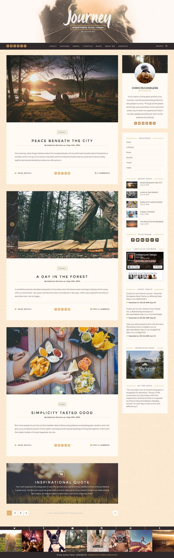 If you are bloggers, travelers, photographers, illustrators, food lovers or simply you have something important to tell, Journey Theme can be what you are looking for. Tell your story to the World with this unique #blog theme for WordPress. #website