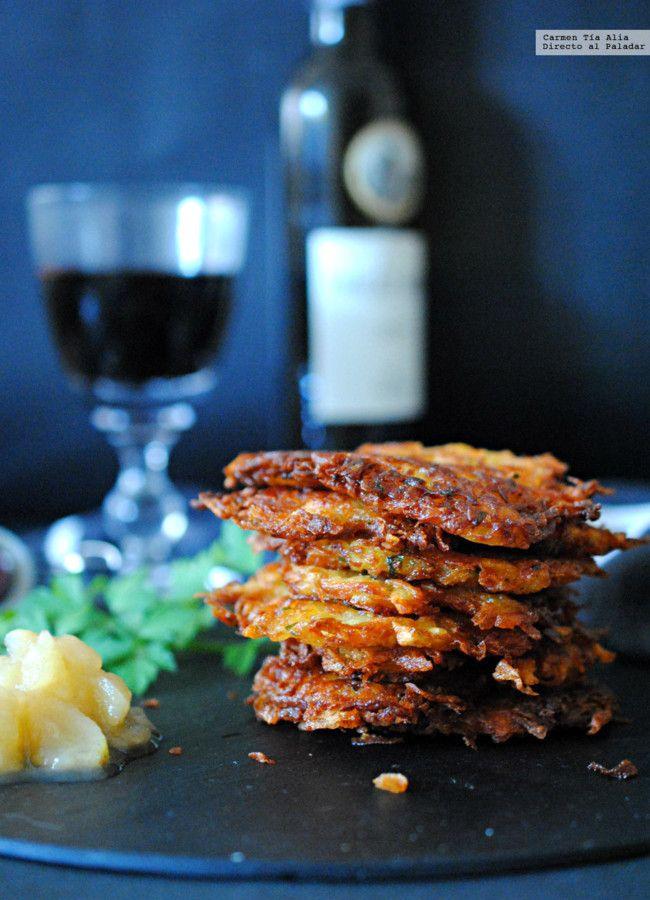 Kartoffelpuffer o tortitas de patata. Receta tradicional alemana