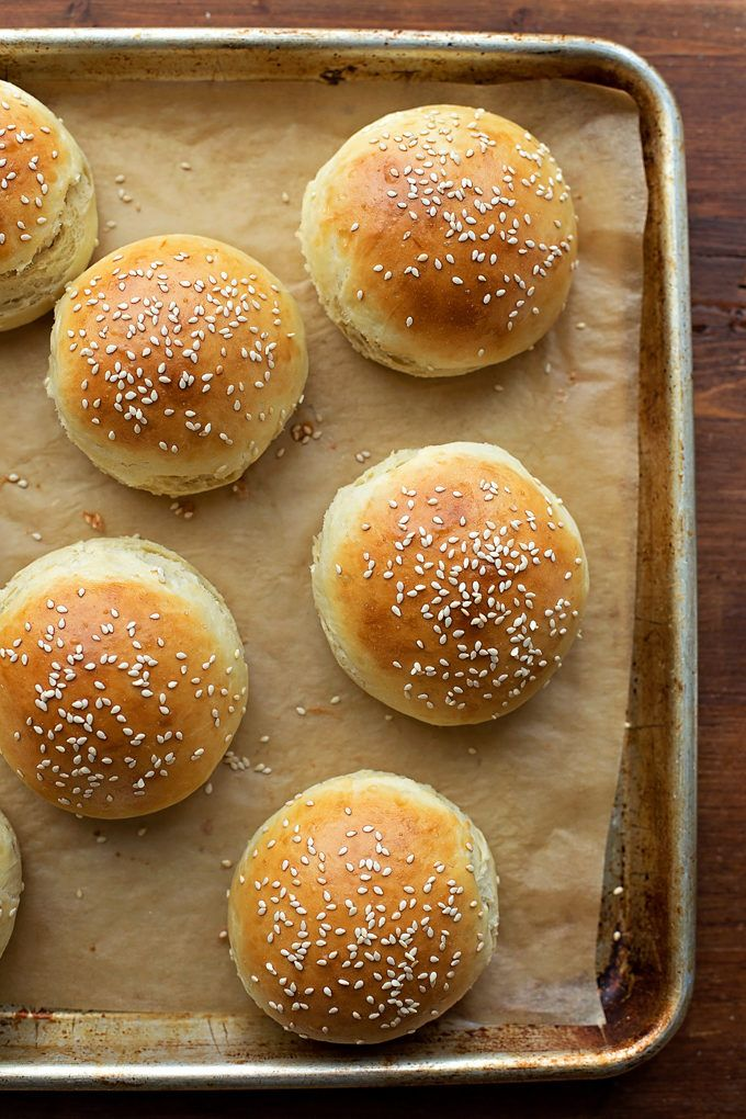Homemade Brioche Hamburger Buns