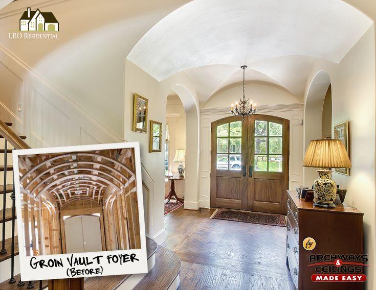 Foyer Plaster Ceiling : Best groin vault images on pinterest coffered