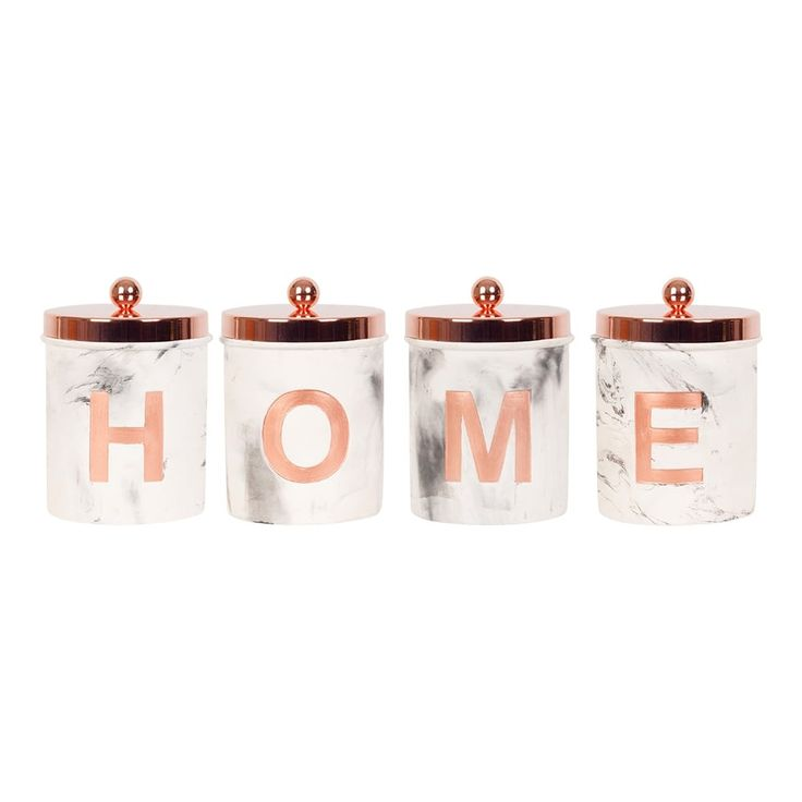 HOME Concrete Jars Set of 4 Copper | Cult Furniture UK