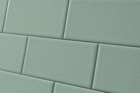 Crackle Glaze Duck Egg Subway Wall Tiles 7 5x15cm Tons
