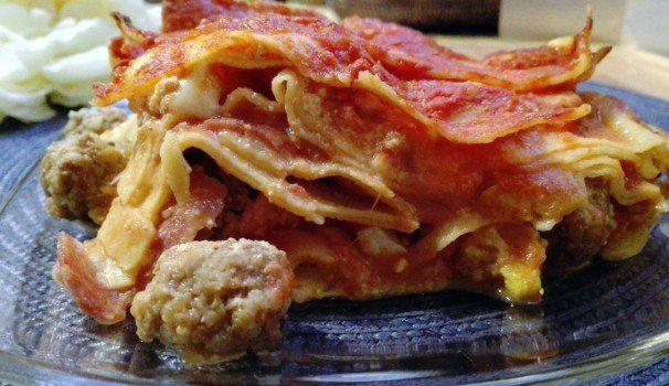 Lasagne napoletane | Neapolitan lasagna with meatball, italian recipe