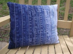 PILLOW CASES FROM DENIM WAISTBANDS | New Life, New Purpose