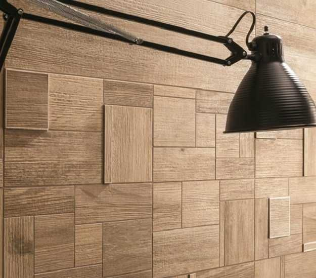 wall design textured with ceramic tiles