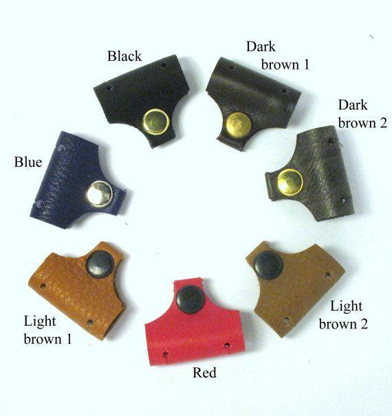 Soporte del auricular cable soporte cuero personalizado