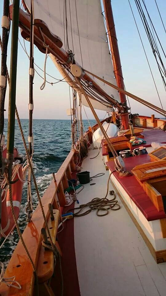 Sailing steadily in a World of your own. So far offshore that there is no dust in the air, the last trace of land. Now, just the invigorating smell of the Sea. MMc