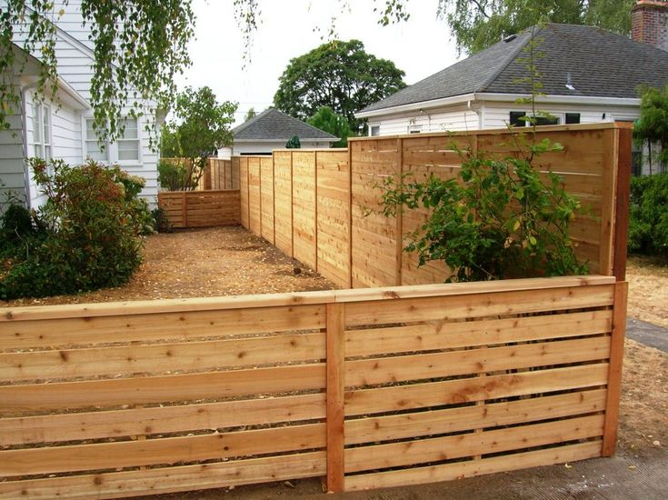 exceptional horizontal wooden fence ideas 15
