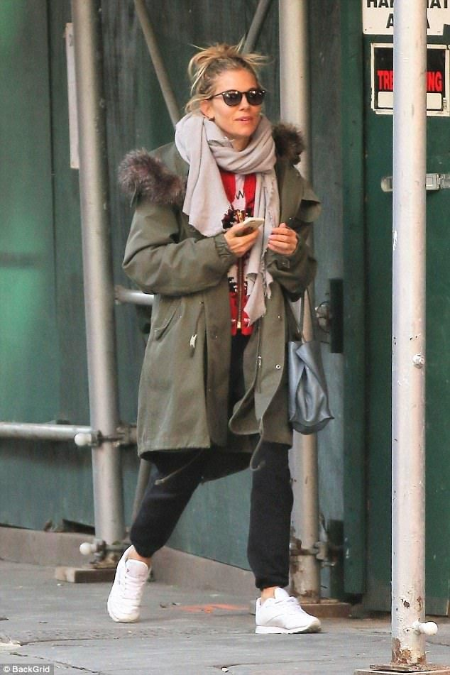 Turning heads! Sienna Miller looked in good spirits as she enjoyed some well-deserved time off in New York on Wednesday