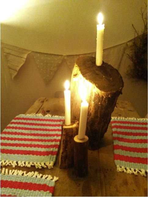 Make your own rustic candle holders in this quick DIY step-by-step